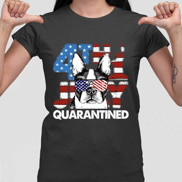 Terrier 4Th Of July Merica Quarantined Gifts Funny T-shirt S By AllezyShirt
