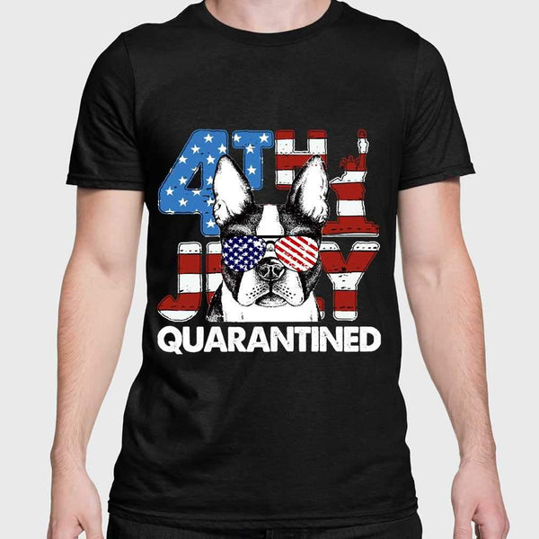 Terrier 4Th Of July Merica Quarantined Gifts Funny T-shirt M By AllezyShirt