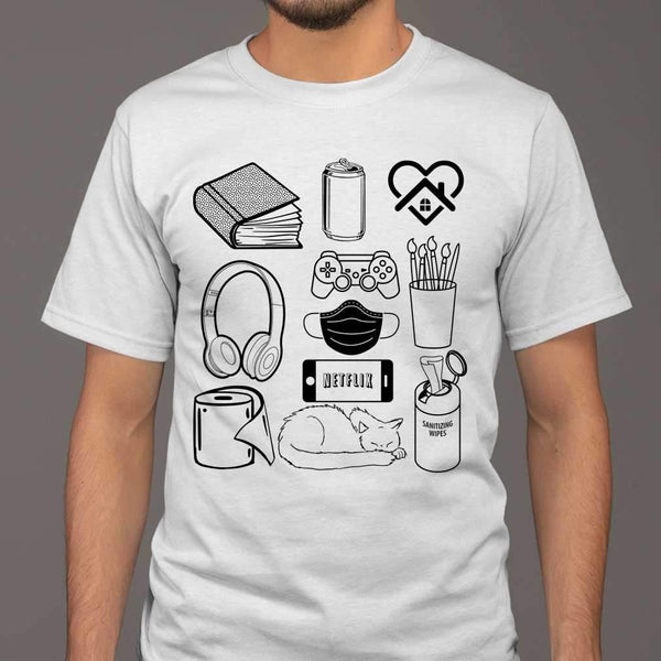 The Essentials Supplies Cat Book Toilet Paper T-shirt M By AllezyShirt