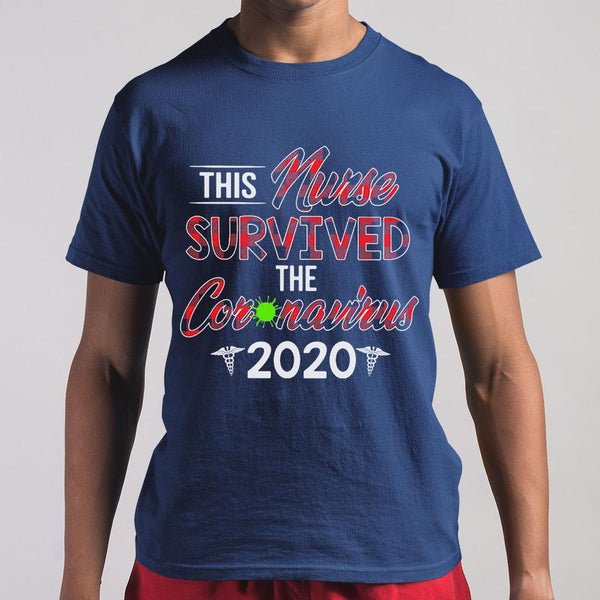 This Nurse Survived The Coronavirus 2020 Vintage Shirt M By AllezyShirt