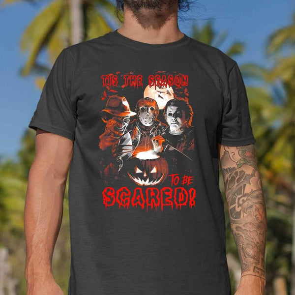 Tis The Season To Be Scared Horror Halloween T-shirt M By AllezyShirt