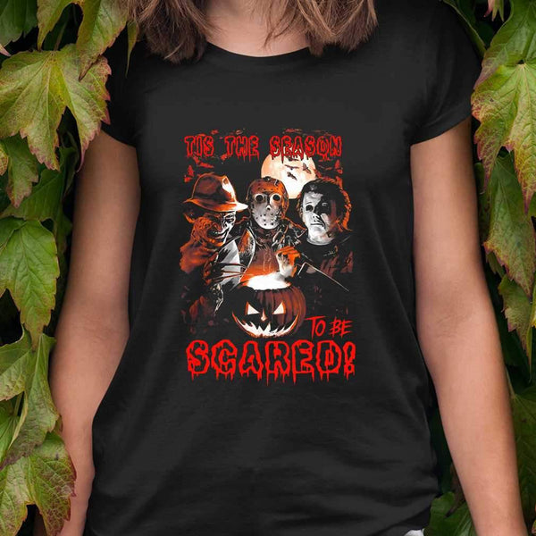 Tis The Season To Be Scared Horror Halloween T-shirt S By AllezyShirt