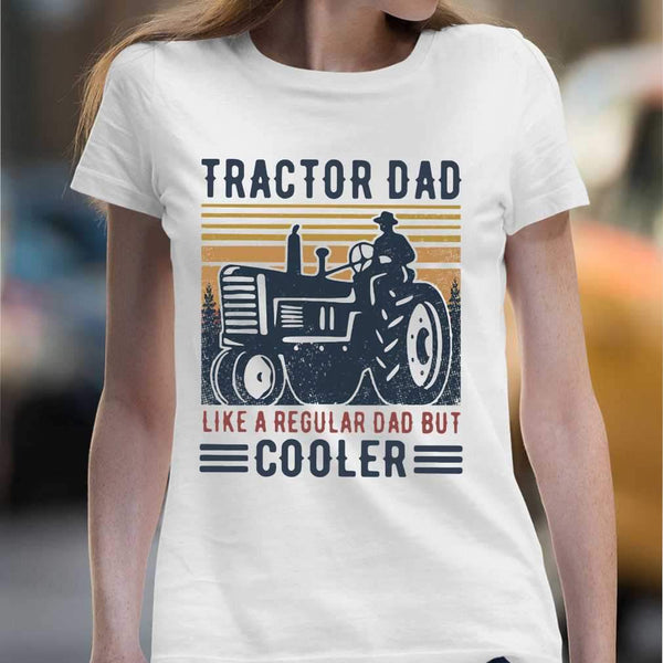 Tractor Dad Like A Regular Dad But Cooler Vintage T-shirt M By AllezyShirt