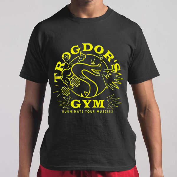 Trogdor's Gym Burninate Your Muscles T-shirt M By AllezyShirt