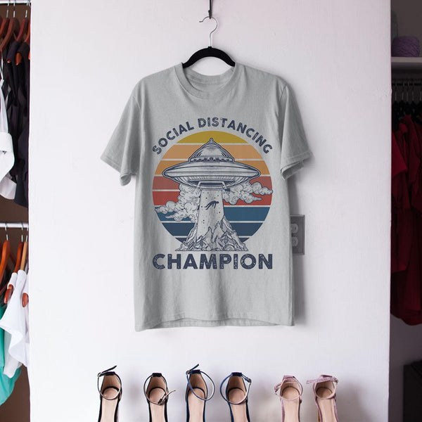 Ufos Social Distancing Champion Shirt M By AllezyShirt
