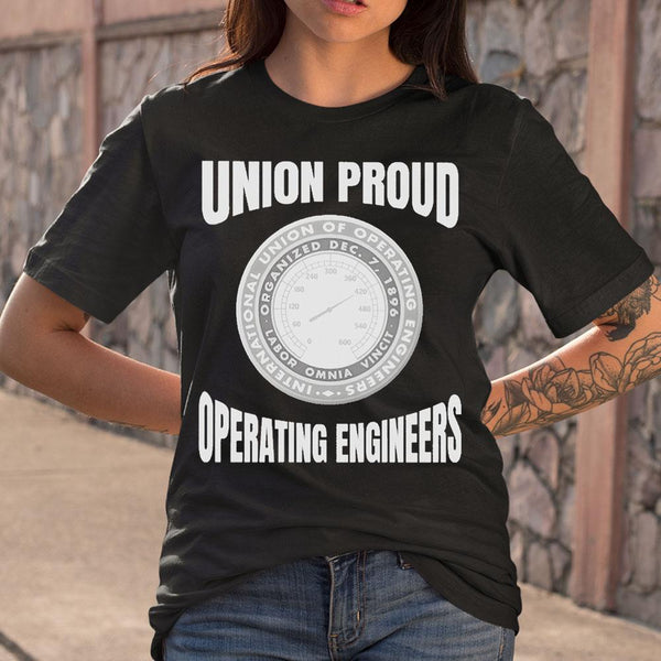 Union Proud Labor Omnia Vincit Organized Dec.7.1896 Operating Engineers T-shirt M By AllezyShirt