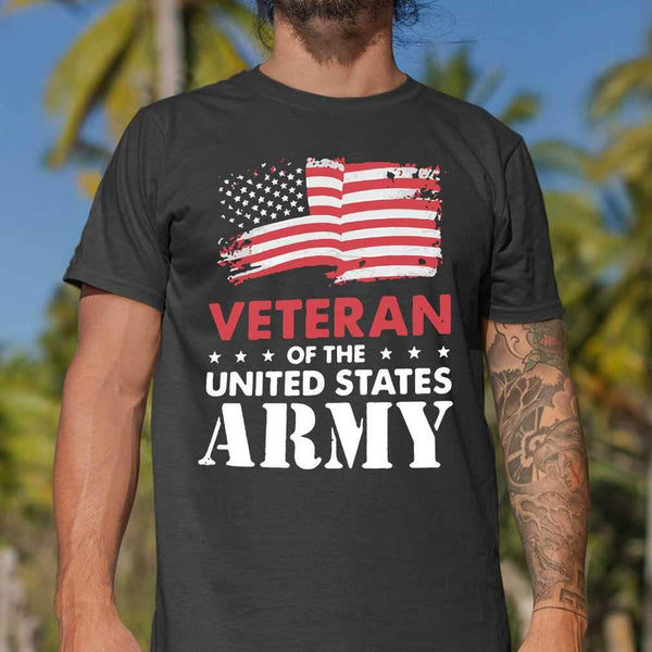 Veteran Of The United States Army Flag Us T-shirt S By AllezyShirt