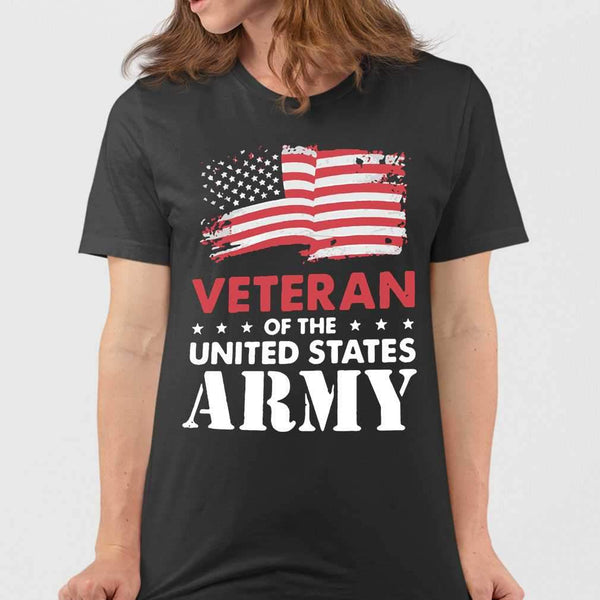 Veteran Of The United States Army Flag Us T-shirt M By AllezyShirt