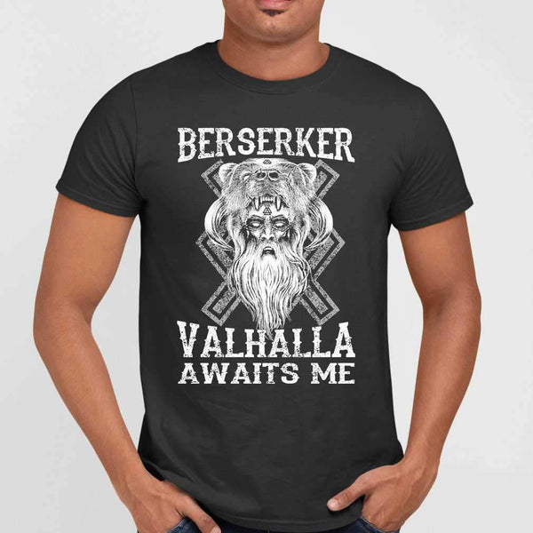 Vikings Berserker Valhalla Awaits Me T-shirt M By AllezyShirt