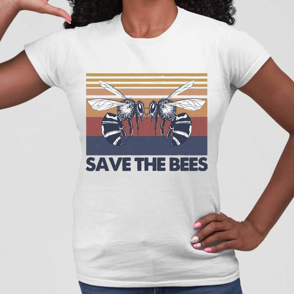 Vintage Beekeeper Save The Bees T-shirt M By AllezyShirt