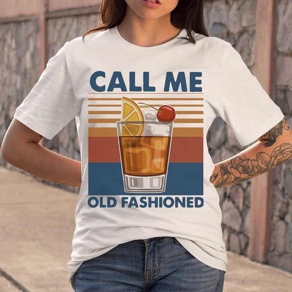 Vintage Cocktail Call Me Old Fashioned T-shirt M By AllezyShirt