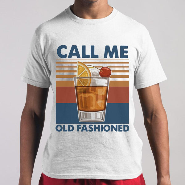 Vintage Cocktail Call Me Old Fashioned T-shirt S By AllezyShirt