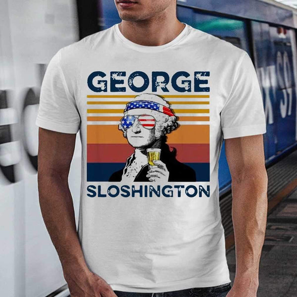 Vintage George Sloshington T-shirt S By AllezyShirt