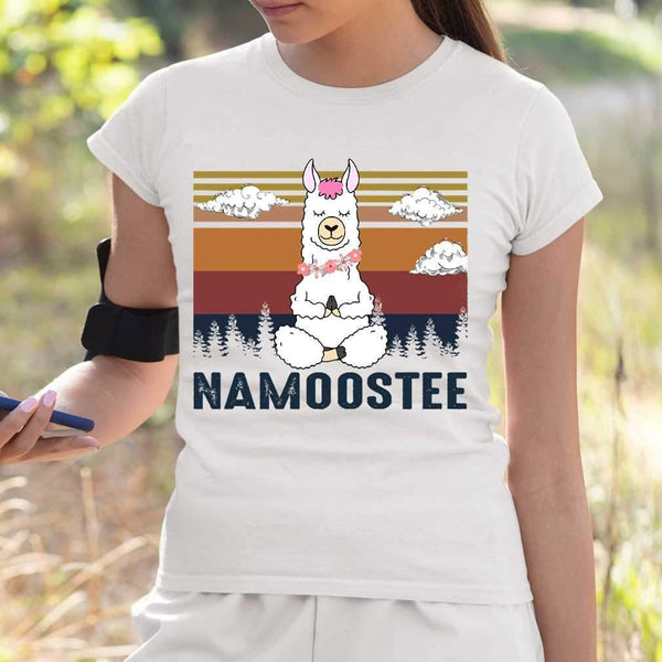 Vintage Namoostee Llama Yoga Vintage Gift T-shirt S By AllezyShirt