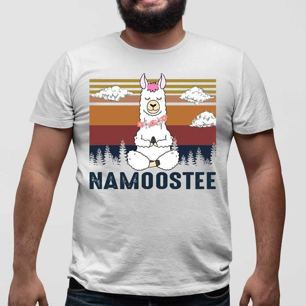 Vintage Namoostee Llama Yoga Vintage Gift T-shirt M By AllezyShirt