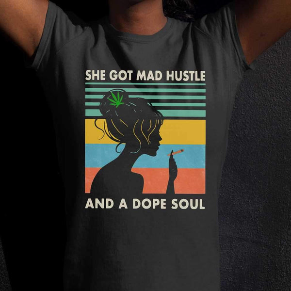 Vintage Weed She Got Mad Hustle And A Dope Soul T-shirt M By AllezyShirt