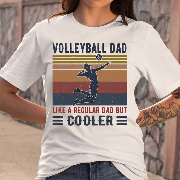 Volleyball Dad Like A Regular Dad But Cooler Vintage Retro T-shirt M By AllezyShirt