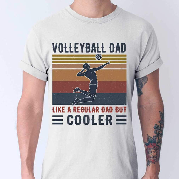 Volleyball Dad Like A Regular Dad But Cooler Vintage Retro T-shirt S By AllezyShirt