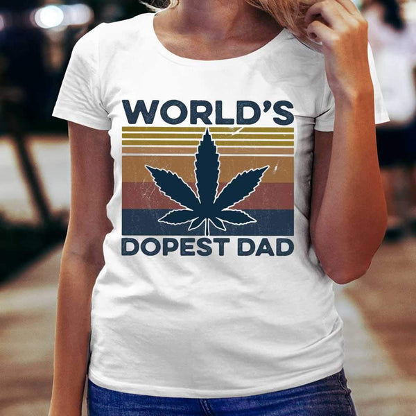 Weed World'S Dopest Dad Vintage T-shirt S By AllezyShirt