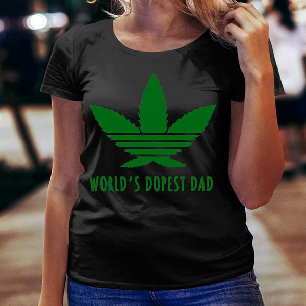 Weed World's Dopest Dad T-shirt S By AllezyShirt