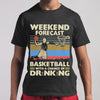 Weekend Forecast Basketball With A Chance Of Drinking Beer Vintage T-shirt S By AllezyShirt
