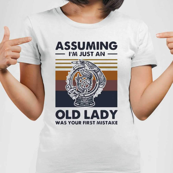 Witchcraft Assuming I'm Just An Old Lady Was Your First Mistake Vintage T-shirt M By AllezyShirt