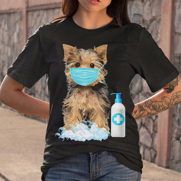 Yorkshire Terrier Lover Face Mask T-shirt S By AllezyShirt