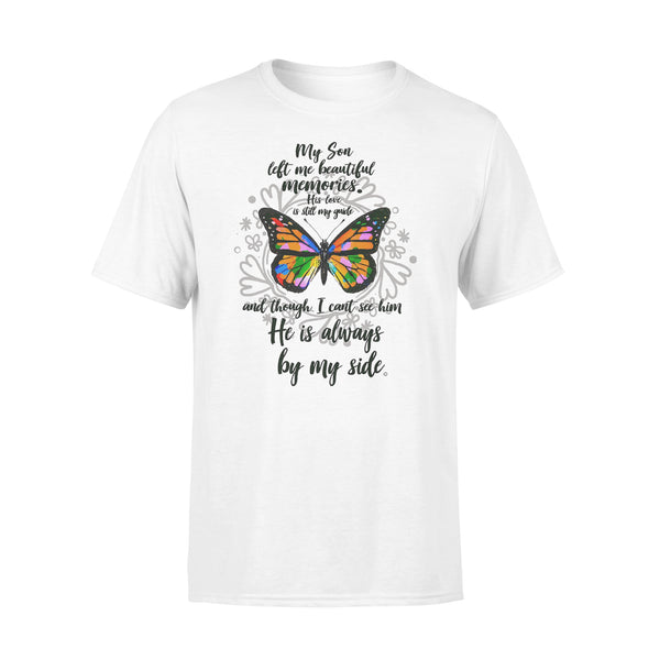 My Son Left Me Beautiful Memories His Love Is Still My Guide Butterfly T-shirt L By AllezyShirt