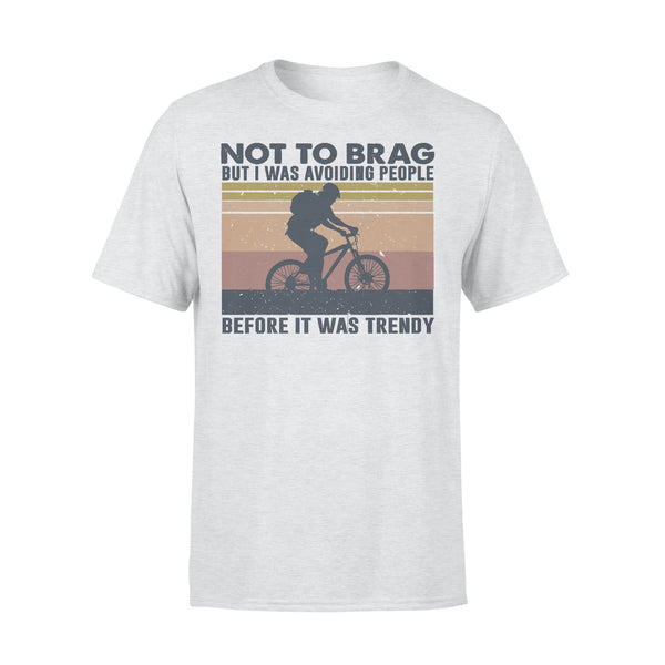 Bicycle Not To Brag But I Was Avoiding People Before It Was Trendy Vintage T-shirt XL By AllezyShirt