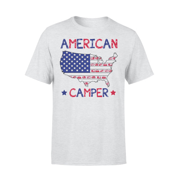 4Th Of July American Camper Independence Day T-shirt XL By AllezyShirt