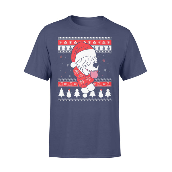 Old English Sheepdog Dog Ugly Christmas T-shirt XL By AllezyShirt