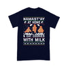 Namast'Ay At Home And Eat Cookies With Milk Ugly Christmas T-shirt M By AllezyShirt