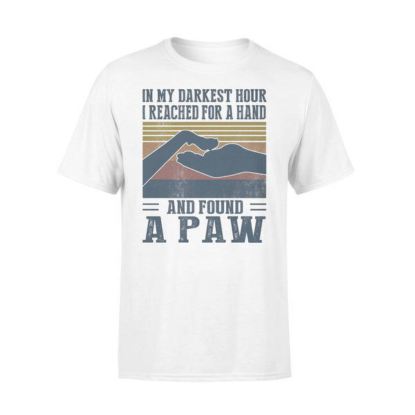 In My Darkest Hour I Reached For A Hand And Found A Paw Vintage Retro T-shirt L By AllezyShirt