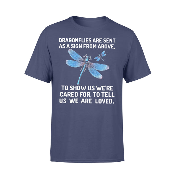 Dragonflies Are Sent As A Sign From Above To Show Us We're Cared T-shirt XL By AllezyShirt