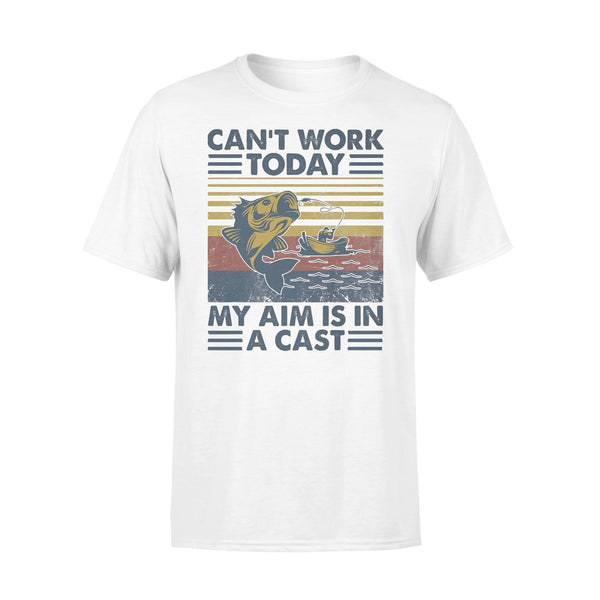 Fishing Can't Work Today My Aim Is In A Cast Vintage T-shirt L By AllezyShirt