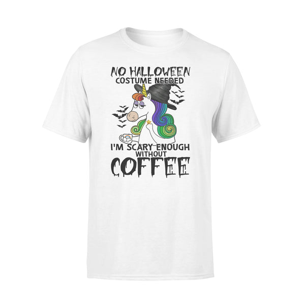 No Halloween Costume Needed I'm Scary Enough Without Coffee Unicorn T-shirt L By AllezyShirt