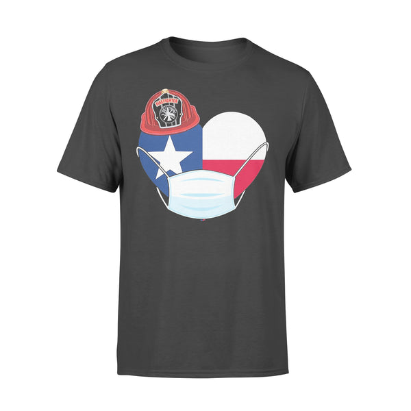 Firefighter Flag Of Texas Covid-19 2020 T-shirt L By AllezyShirt