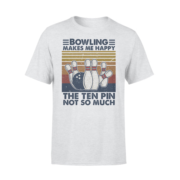 Bowling Makes Me Happy The Ten Pin Not So Much Vintage T-shirt XL By AllezyShirt