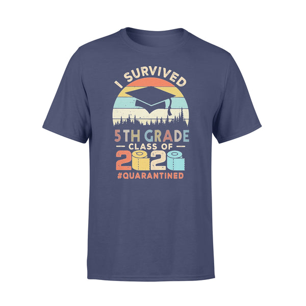 I Survived 5Th Grade Class Of 2020 Quarantined Toilet Paper T-shirt XL By AllezyShirt