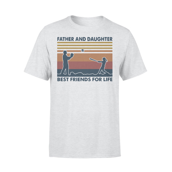 Baseball Father And Daughter Best Friends For Life Vintage T-shirt XL By AllezyShirt