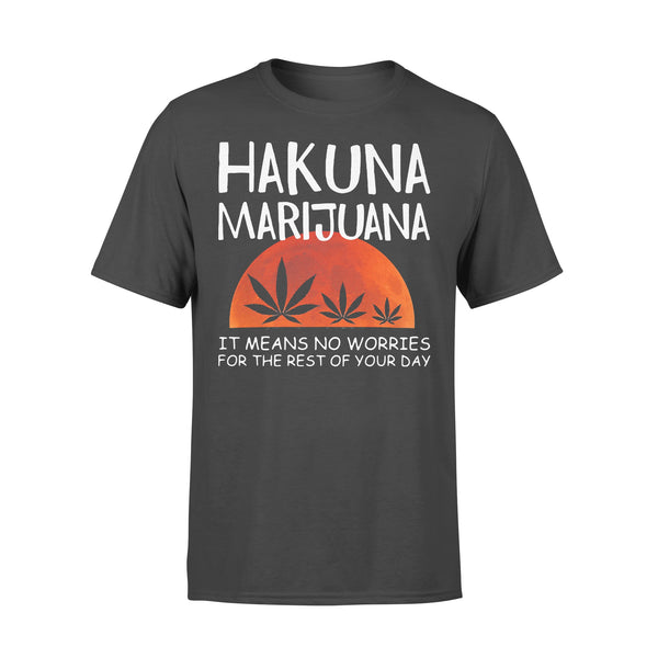 Hakuna Marijuana It Means No Worries For The Rest Of Your Day Weed Moon Blood T-shirt L By AllezyShirt