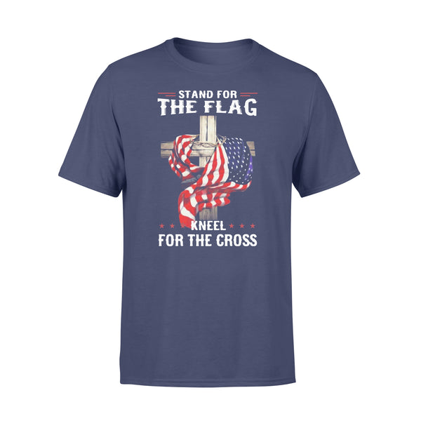 Stand For The Flag Kneel For The Cross T-shirt XL By AllezyShirt