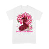 Black Girl Pink Flower Warrior Breast Cancer Awareness T-shirt L By AllezyShirt