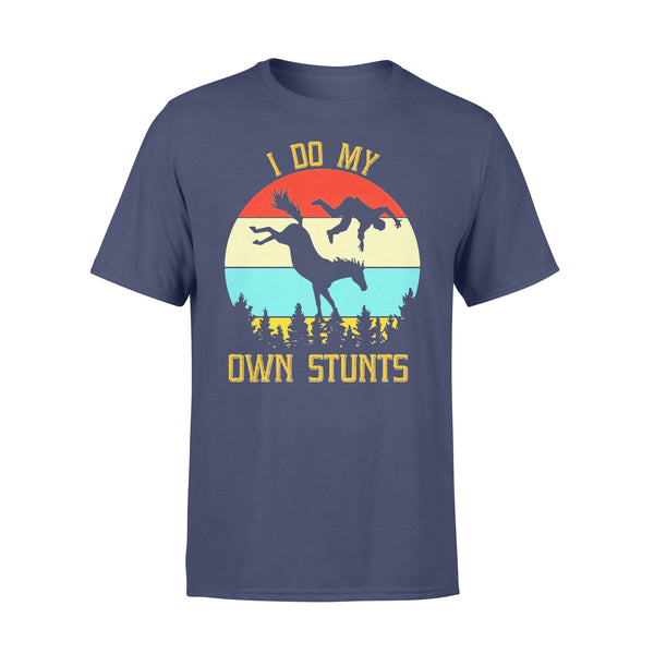 Horse Equestrian I Do My Own Stunts Vintage Retro T-shirt XL By AllezyShirt