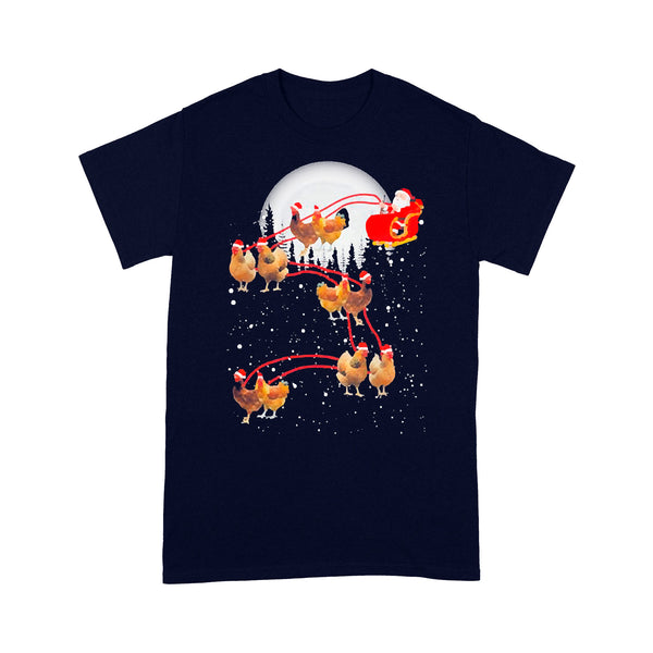 Chicken With Santa Claus Xmas T-shirt M By AllezyShirt