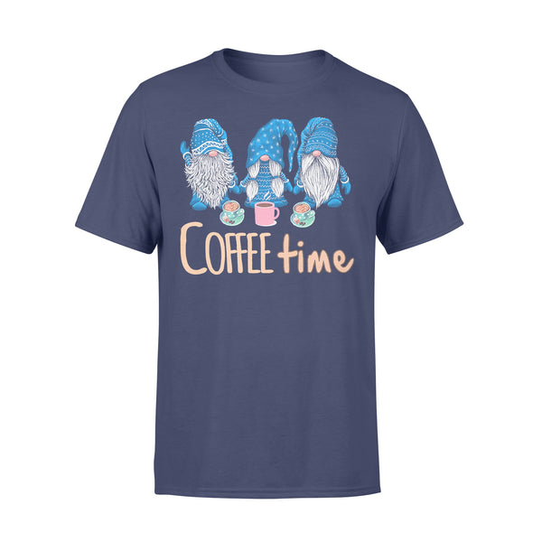 Blue Gnomies Coffee Time T-shirt XL By AllezyShirt
