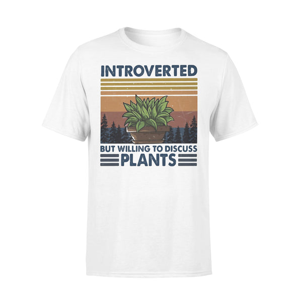 Garden Introverted But Willing To Discuss Plants Vintage Retro T-shirt L By AllezyShirt