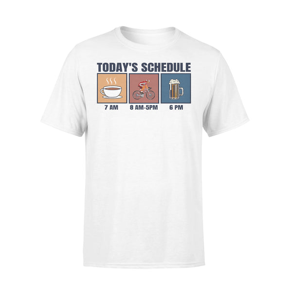 Bicycle Today's Schedule Coffee Cycling Beer T-shirt L By AllezyShirt
