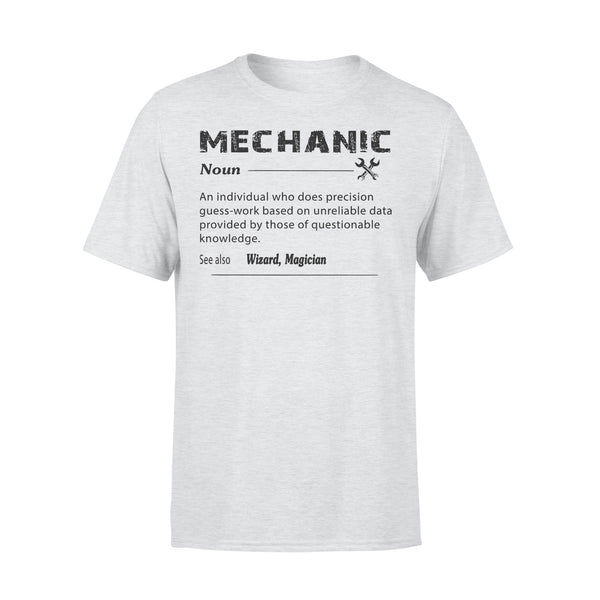 Classic Mechanic Definition Noun An Individual Who Does Precision Guess Work T-shirt XL By AllezyShirt