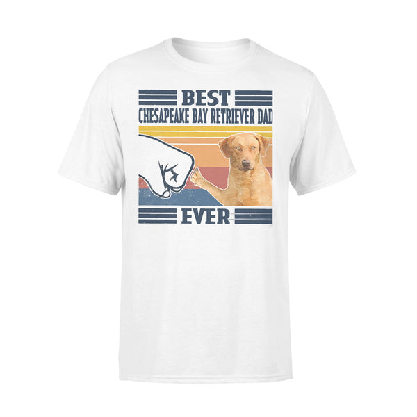 Father's Day Best Chesapeake Bay Retriever Dad Ever Vintage T-shirt L By AllezyShirt